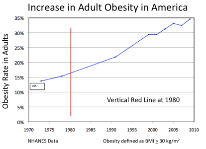 INCREASE IN OBESITY IN AMERICA